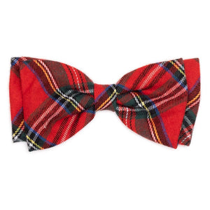 The Worthy Dog Red Plaid III Bow Tie