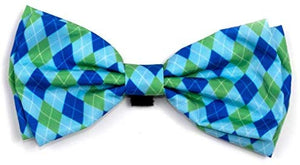 The Worthy Dog Preppy Blue Argyle Dog & Cat Bow Tie