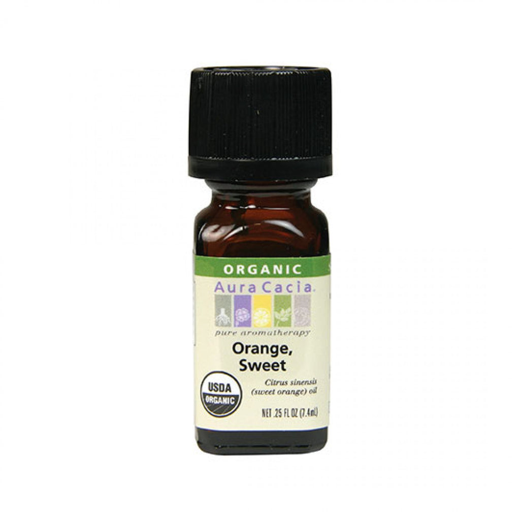 Aura Cacia - Organic Sweet Orange Essential Oil (0.25 fl oz)