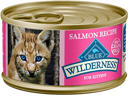 Blue Buffalo Wilderness Grain Free Salmon Kitten Wet Food (24 3oz cans) *