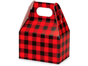 Holiday Gift Treat Boxes: Buffalo Plaid