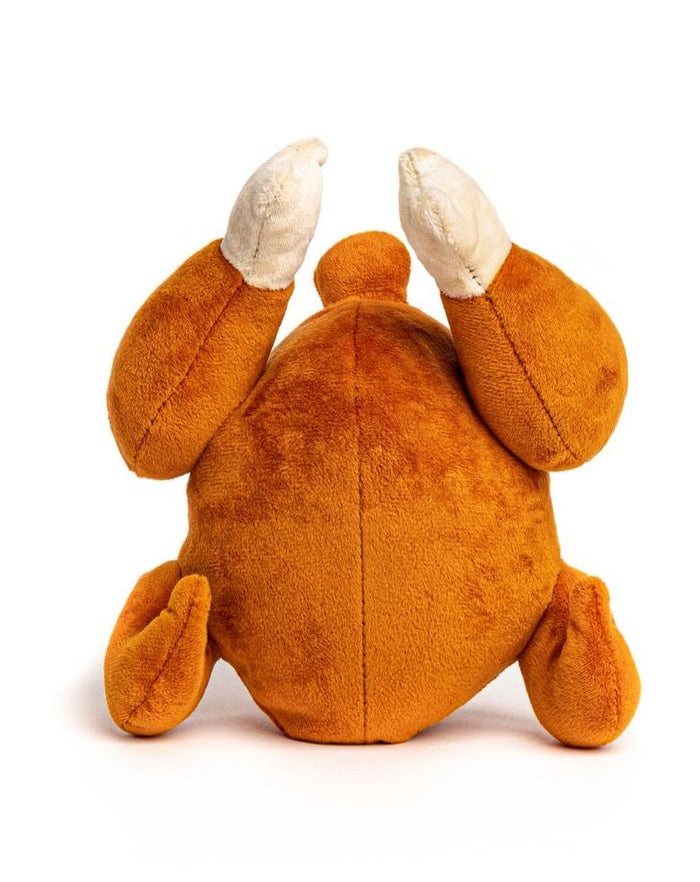 NEW! Fab Dog Rotisserie Chicken Squeaky Plush Dog Toy
