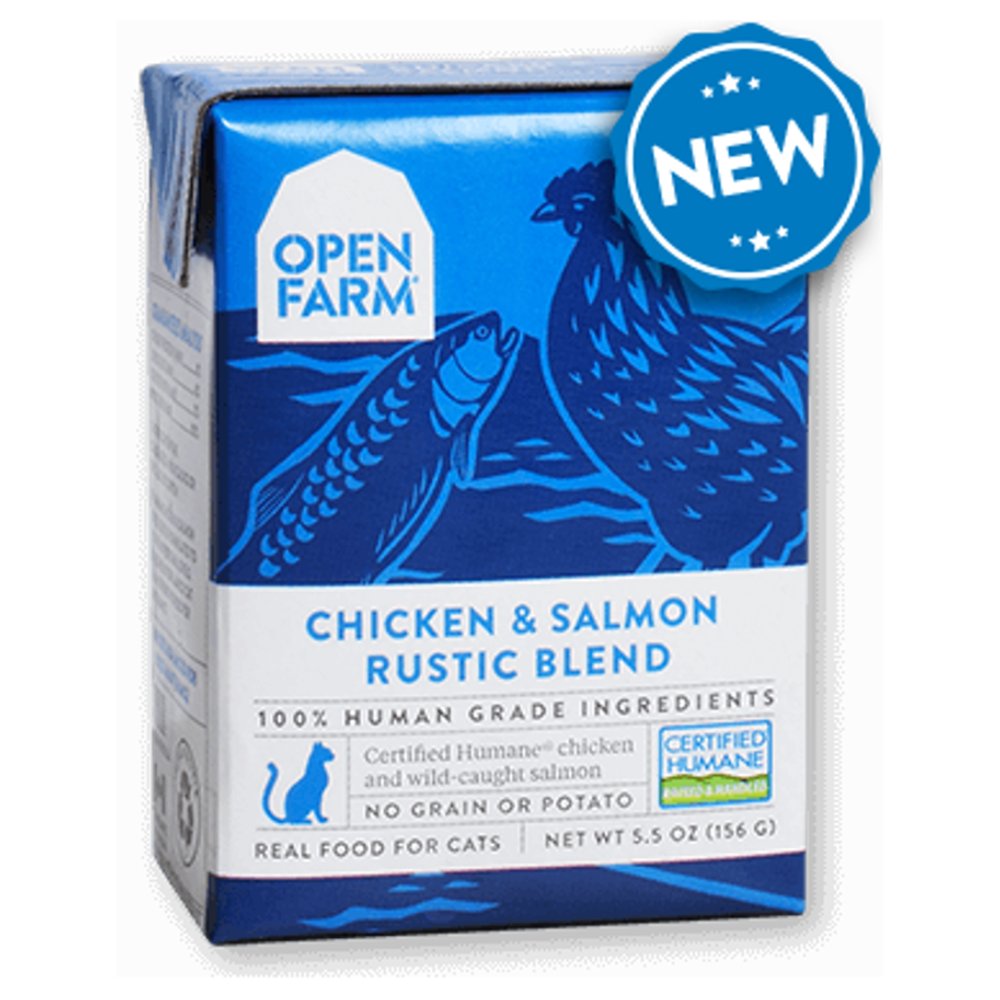 Open Farm - Chicken & Salmon Rustic Blend Grain-Free Wet Cat Food (5.5 oz)