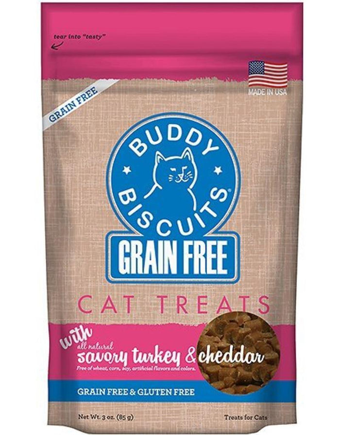 Cloud Star Grain-Free Soft Turkey & Cheddar Cat Treats (3oz)