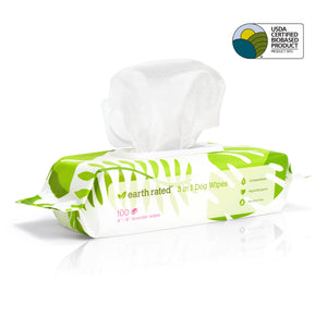 New! Earth Rated Plant Based Unscented Dog Wipes