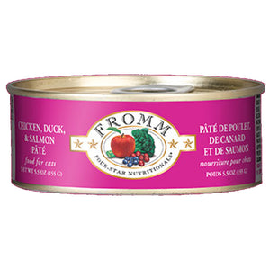 Fromm - Chicken, Duck, & Salmon Pate Grain Free Wet Cat Food (5.5 oz cans)