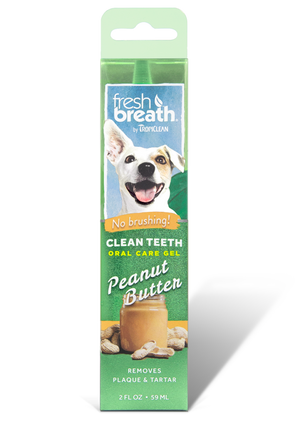 Fresh Breath by Tropiclean Oral Care No-Brush Teeth Gel (Peanut Butter Flavor, 2 fl oz)
