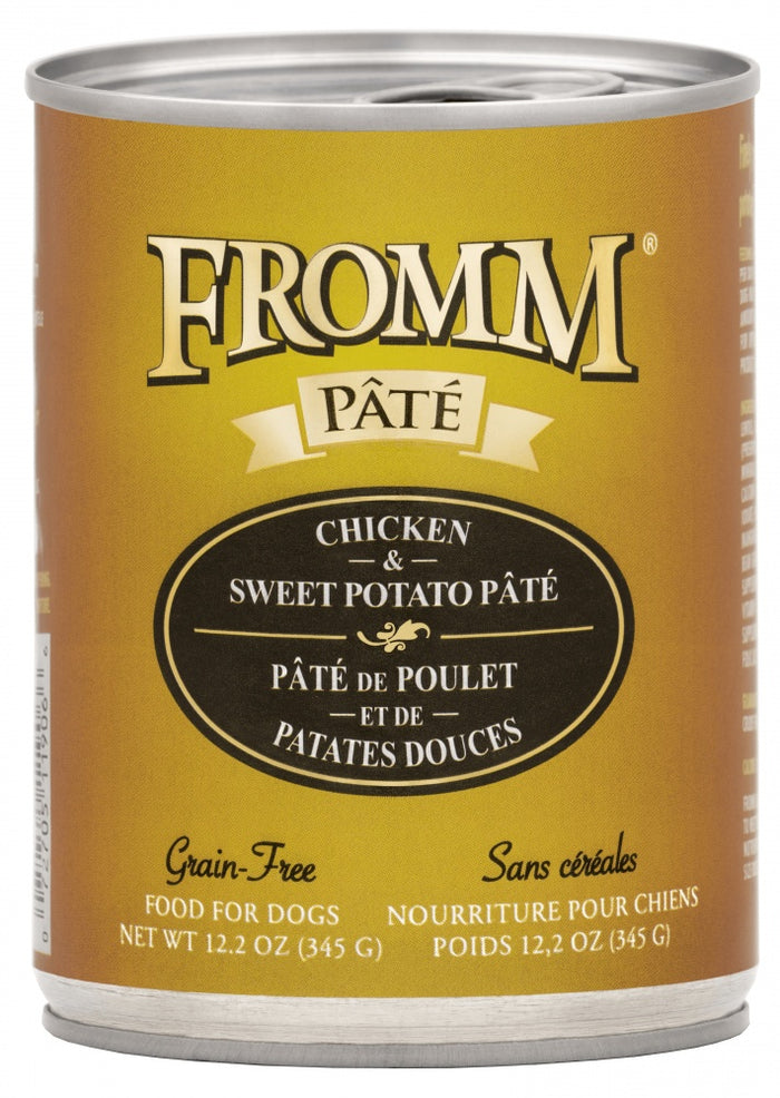 Fromm Grain Free Chicken & Sweet Potato Pate Canned Dog Food (12.2 oz)