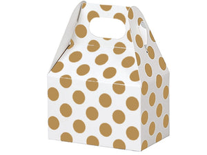 Holiday Gift Treat Boxes: Gold Dot