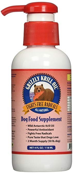 Grizzly - Krill Oil Liquid Antioxidant for Dogs