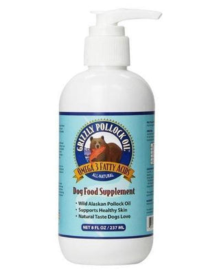 Grizzly - Pollock Oil Dog Food Supplement
