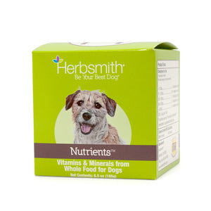 Herbsmith Nutrients Vitamins & Minerals from Whole Food for Dogs (6.5oz/185g Powder)