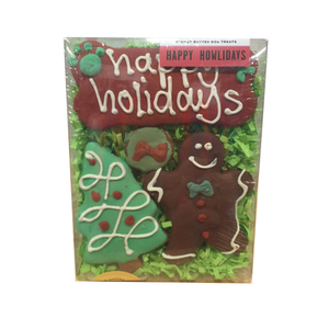 Bubba Rose - Happy Holidays Dog Cookies Box