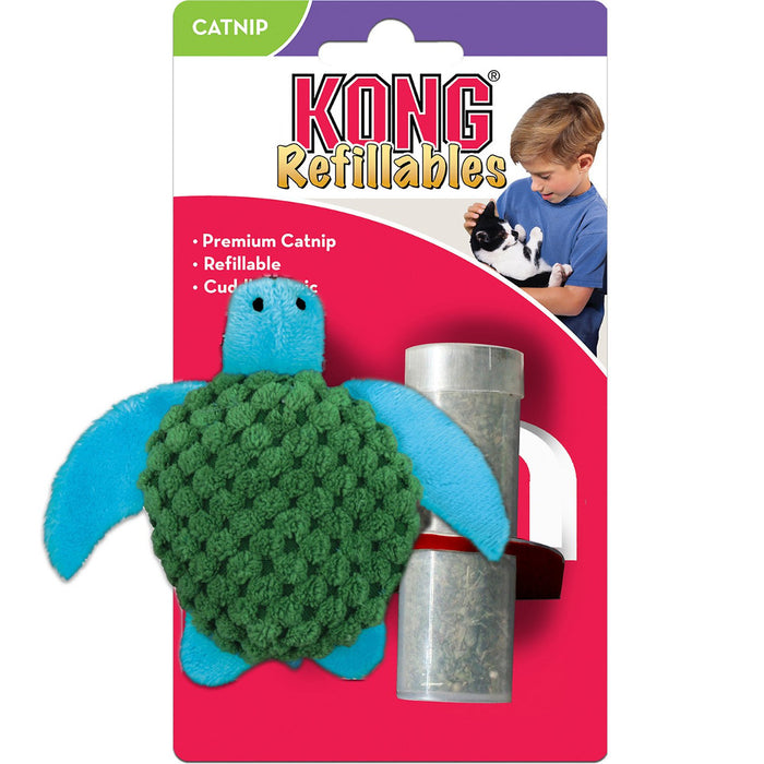 Kong - Refillable Turtle Catnip Cat Toy