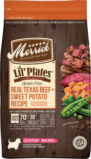 Merrick Lil' Plates Small Breed Grain-Free Real Beef & Sweet Potato Dry Dog Food*