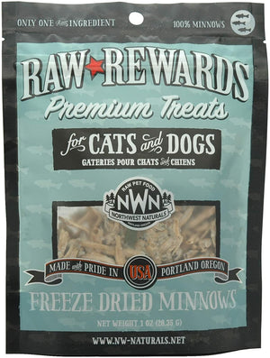 Northwest Naturals Raw Rewards Freeze Dried Minnows Cat & Dog Treat 1oz