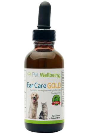 Pet Wellbeing - Ear Care GOLD for Dogs and Cats