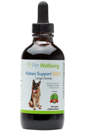 Pet Wellbeing - Kidney Support GOLD for Dogs and Cats