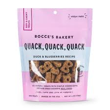 Bocce's Bakery Soft & Chewy Quack Quack Treats (6oz)