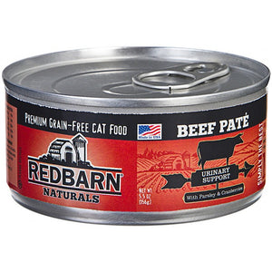 Redbarn Naturals - Grain-Free Beef Pate Wet Cat Food for Urinary Support (5.5 oz)