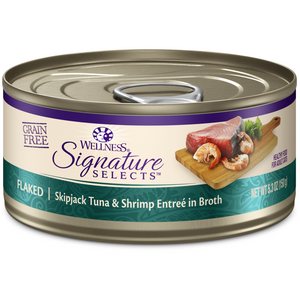 Wellness - Signature Selects Flaked Skipjack Tuna & Shrimp for Cats (12-5.3 oz cans)