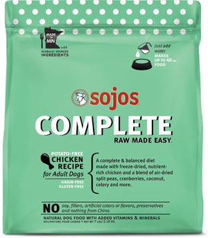 Sojos Complete Chicken Recipe Adult Free-Dried Grain-Free Dehydrated Dog Food (7lbs)