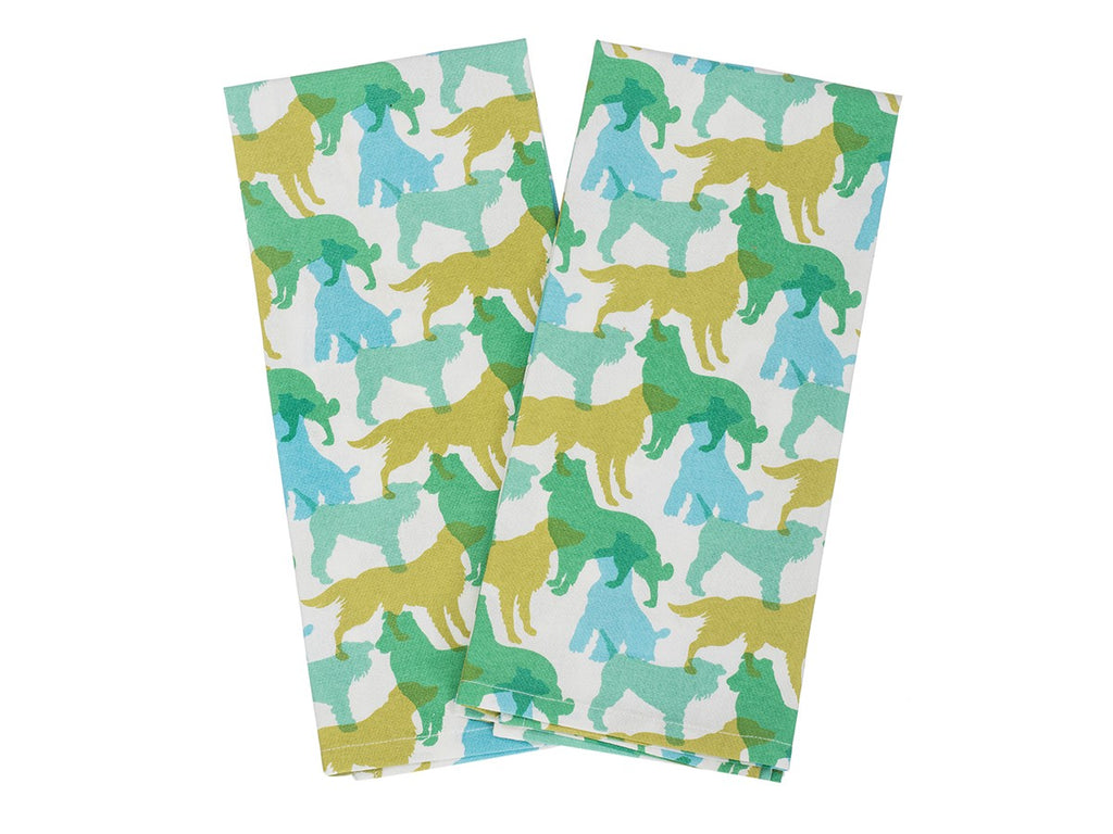 House & Hound - Kitchen Towel Set (Blue & Green)