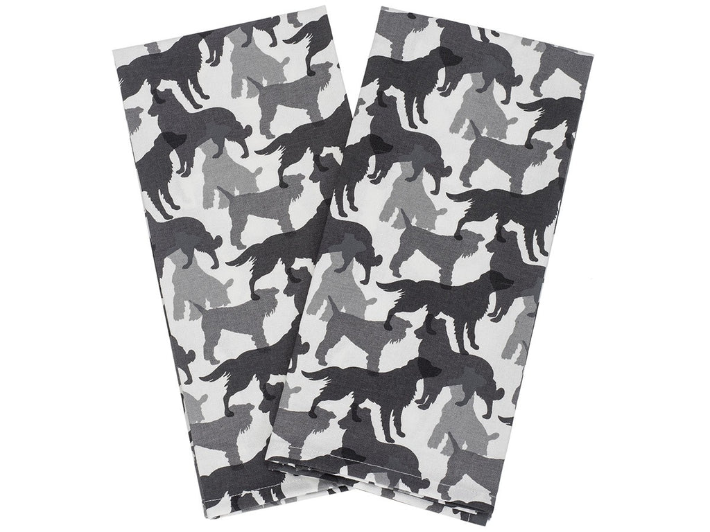 House & Hound - Kitchen Towel Set (Black & White)