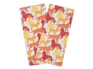 House & Hound - Kitchen Towel Set (Red & Orange)