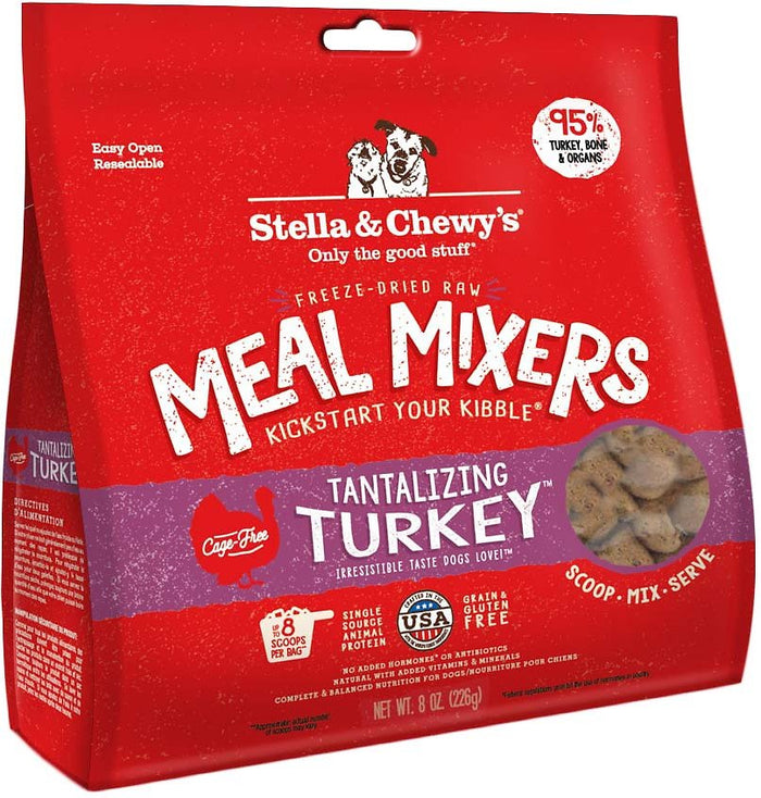 Stella & Chewy's Freeze Dried Dinner Tantalizing Turkey Mixers for Dogs*