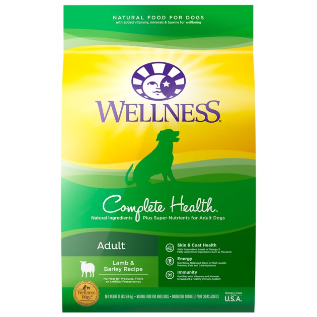 Wellness Complete Health Adult Lamb & Barley Recipe Dry Dog Food*