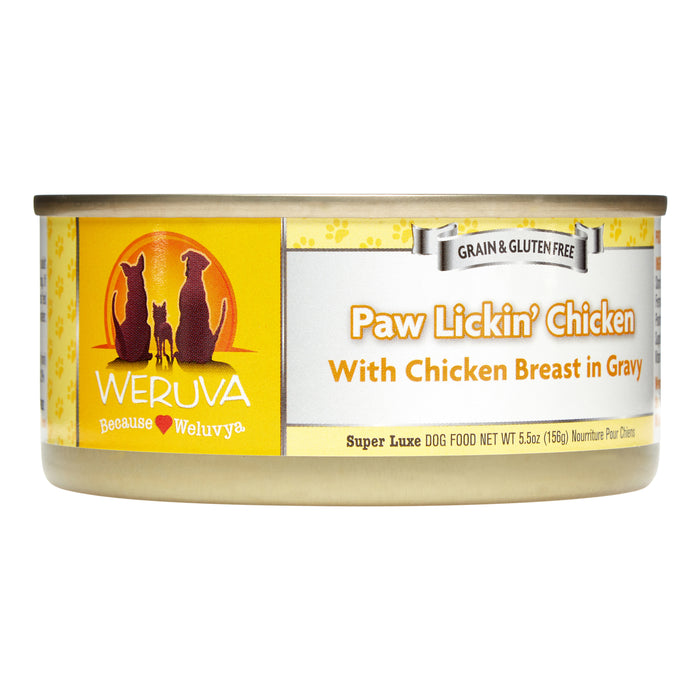 Weruva Paw Lickin' Chicken in Gravy Grain-Free Canned Dog Food (3oz cans, case of 24)*