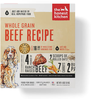 The Honest Kitchen Whole Grain Beef Recipe Dehydrated Dog Food*Special Order*