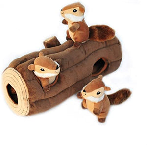 NEW! ZippyPaws - Woodland Friends Burrow, Interactive Squeaky Hide and Seek Plush Dog Toy