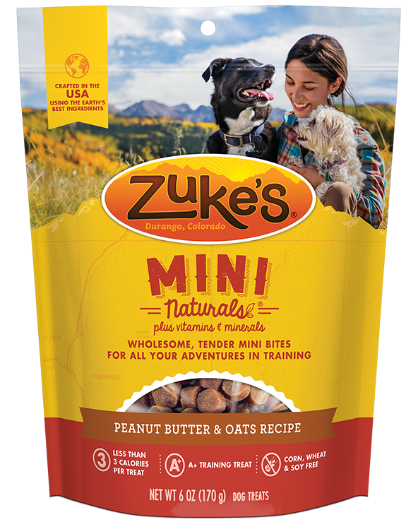 Zuke's - Mini Naturals Peanut Butter & Oats Recipe Training Treats (16 oz)