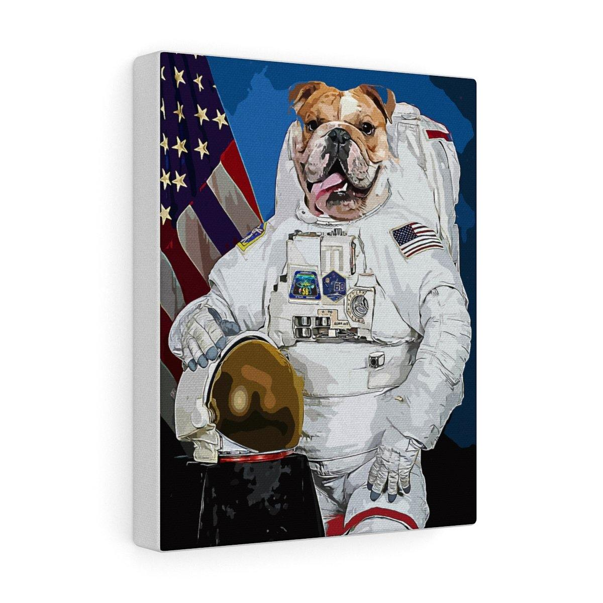 SquishyFacedCrew™ 'The Astronaut' Custom Pet Canvas - SquishyFacedCrew