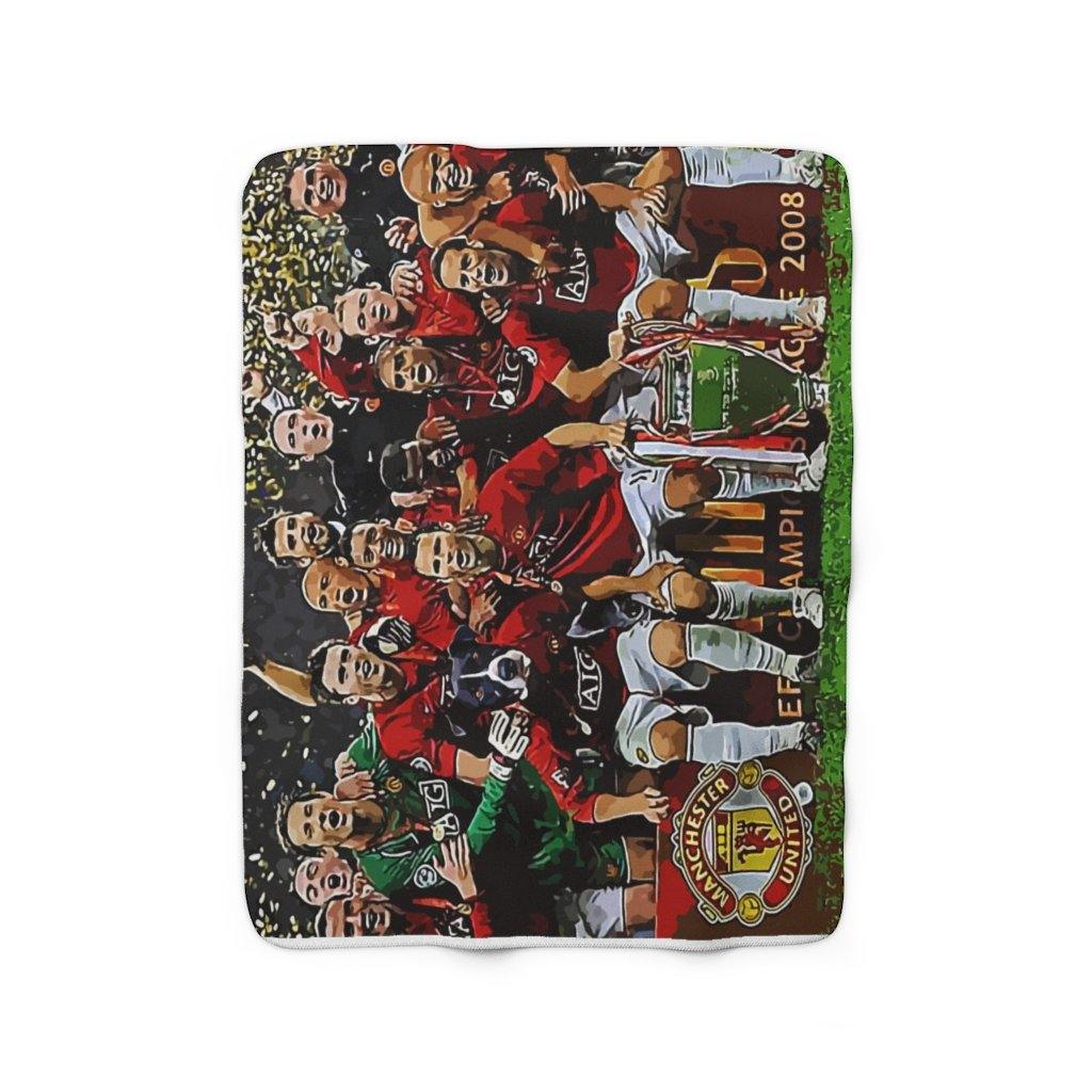 SquishyFacedCrew™ 'THE RED DEVIL!' Sherpa Fleece Blanket