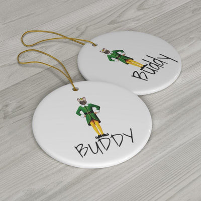 SquishyFacedCrew Personalised Elf Christmas Decoration With Your Pets Face & Name