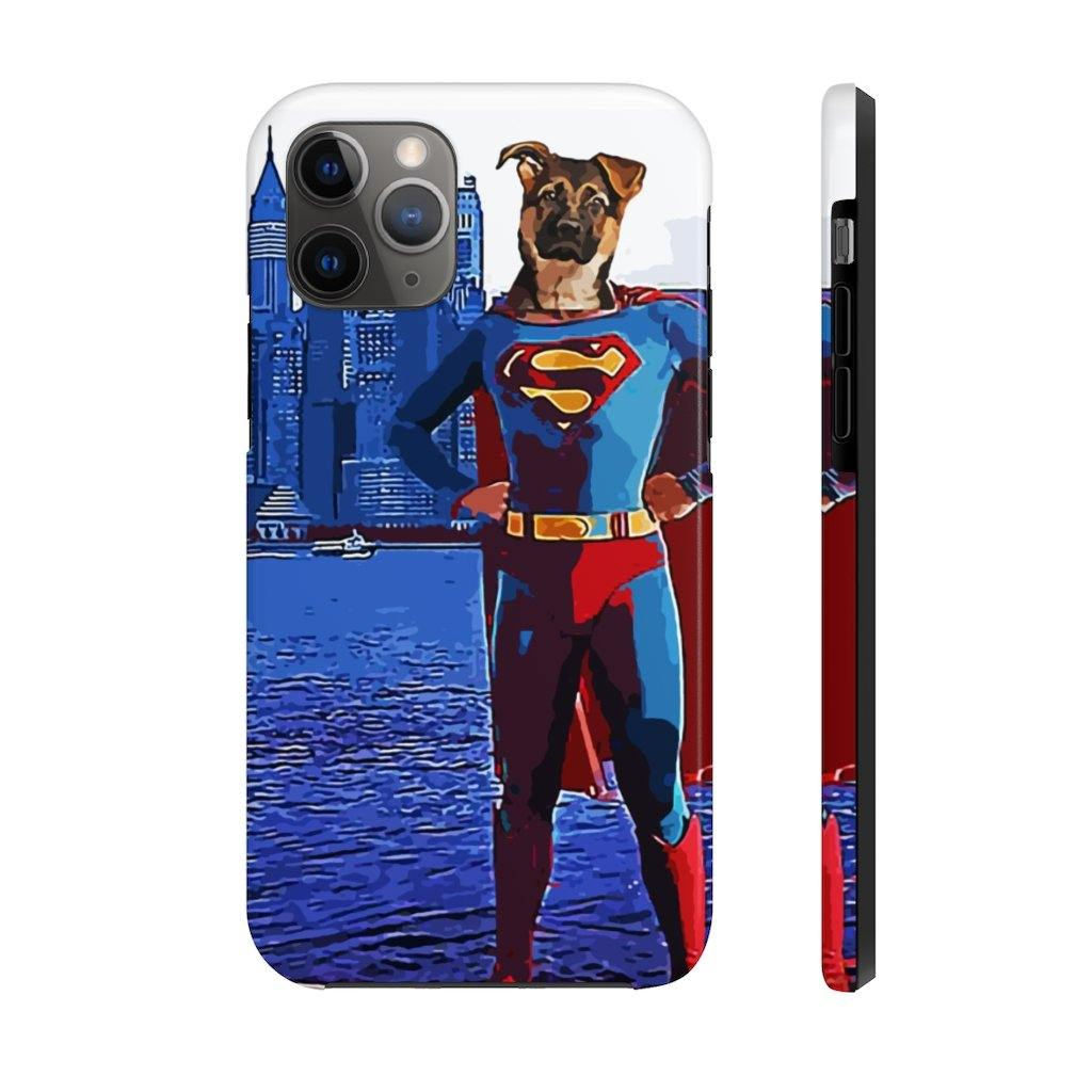 SquishyFacedCrew™ Personalised 'SUPERPAWS' Phone Case