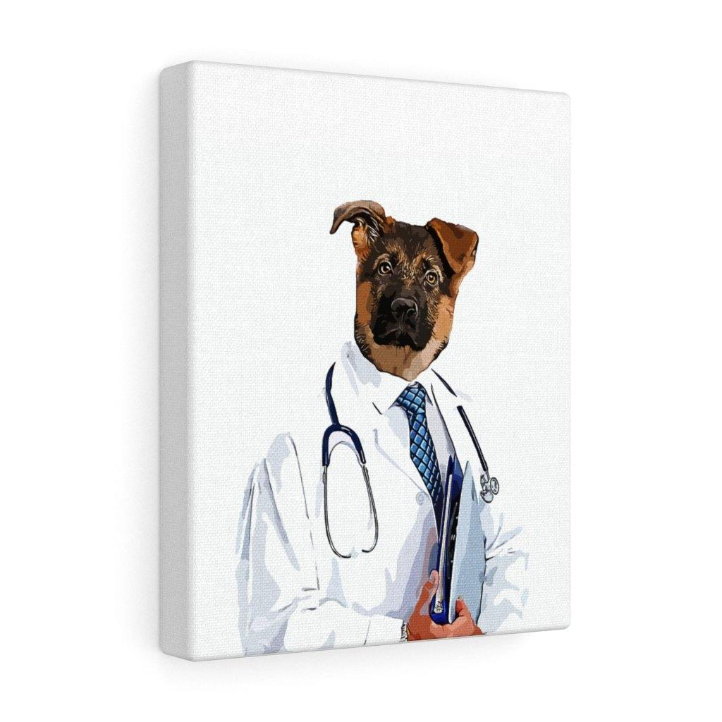 SquishyFacedCrew™ 'THE DOCTOR!' Custom Pet Canvas