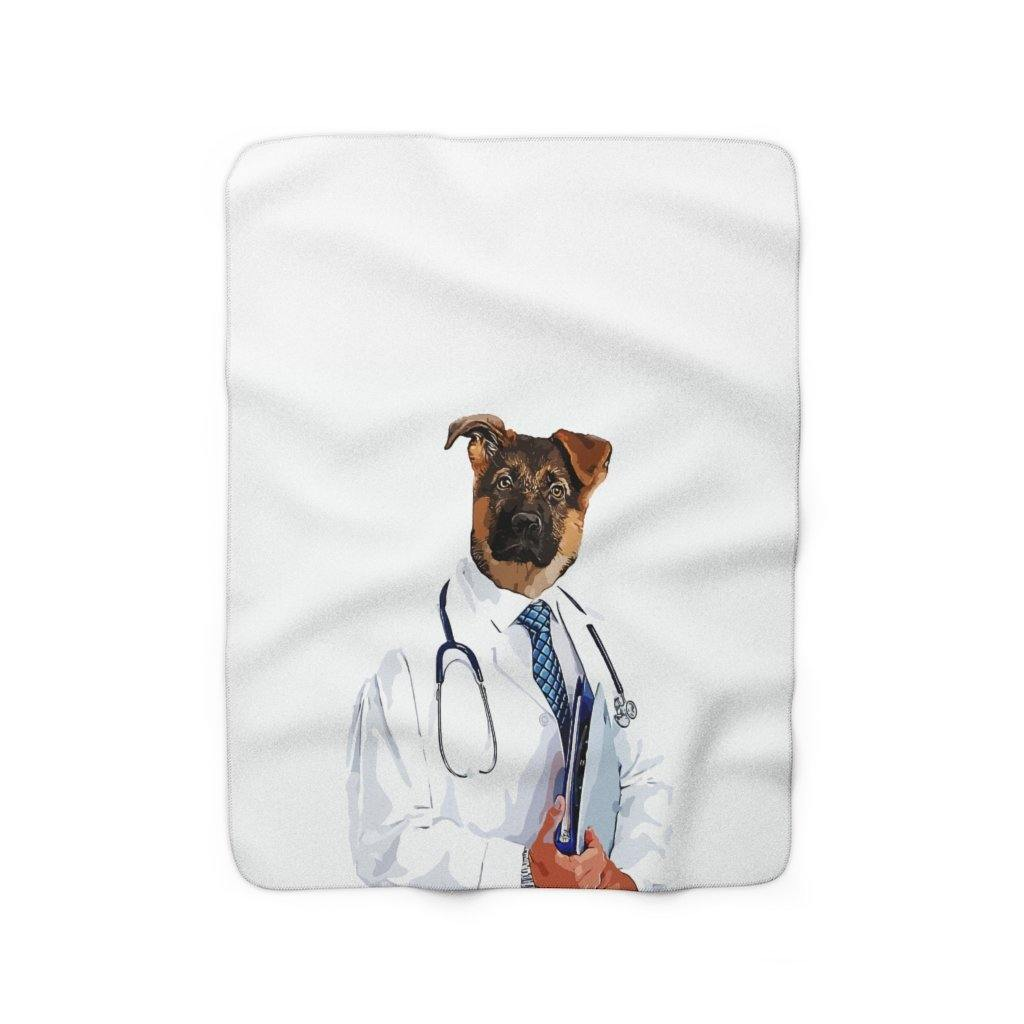 SquishyFacedCrew™ 'THE DOCTOR!' Sherpa Fleece Blanket