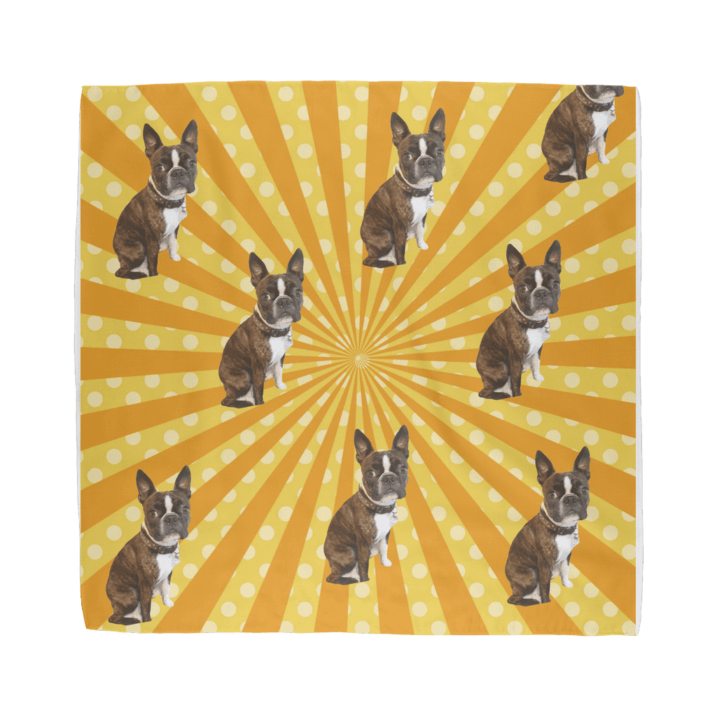 SquishyFacedCrew™ Pop Art Pattern Featuring Your Pet (PERSONALISED) W/ Hundreds of Background Options Sublimation Bandana