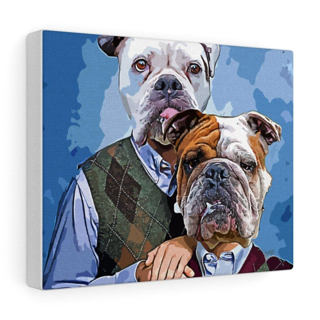 SquishyFacedCrew™ 'THE AWKWARD STEP BROS!' Personalised Pet Canvas