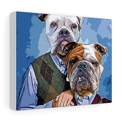 SquishyFacedCrew™ 'THE AWKWARD STEP BROS!' Custom Pet Canvas - SquishyFacedCrew