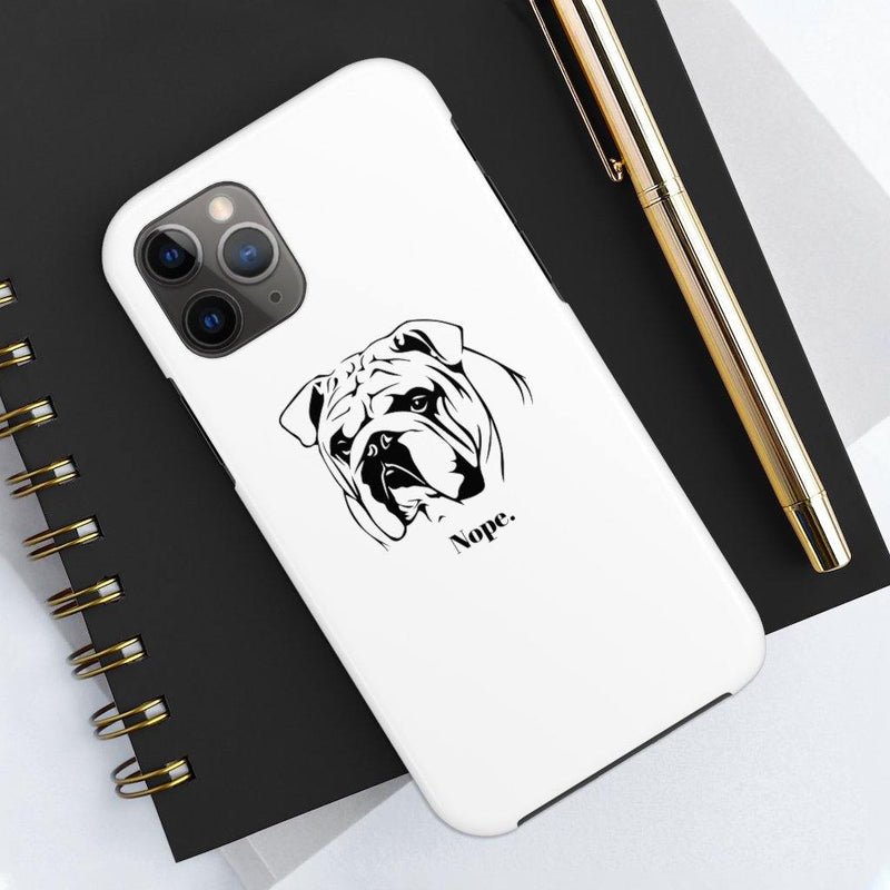 SquishyFacedCrew™ 'NOPE' Personalised Pet Phone Case