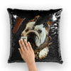 SquishyFacedCrew™ Renaissance Art Featuring Your Pet Sequin Cushion Cover