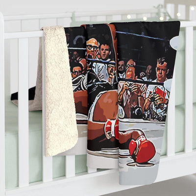 SquishyFacedCrew™ 'THE BOXER!' Sherpa Fleece Blanket - SquishyFacedCrew