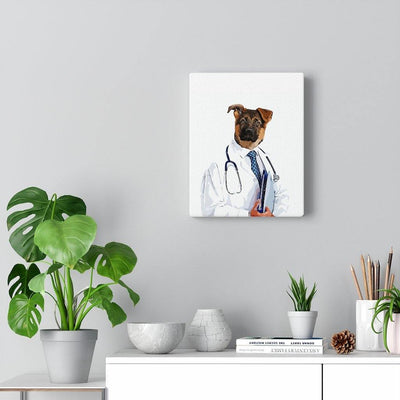SquishyFacedCrew™ 'THE DOCTOR!' Personalised Pet Canvas