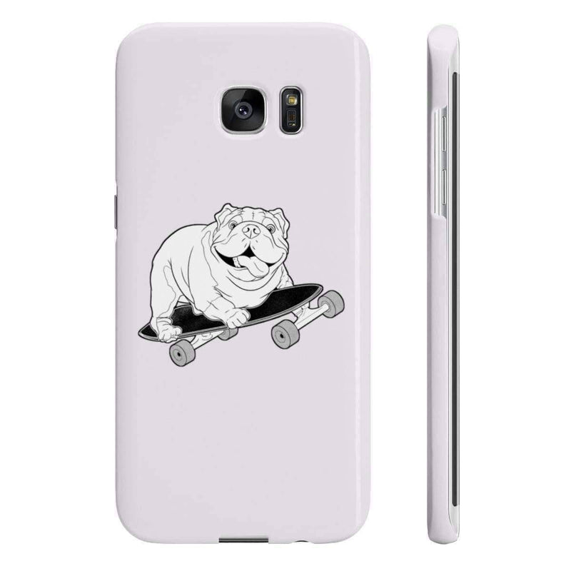 Wpaps Slim Phone Cases | Skater Boy Bulldog - SquishyFacedCrew