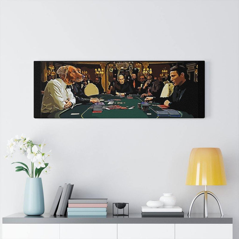 SquishyFacedCrew™ 'THE GAMBLER!' Personalised Pet Canvas